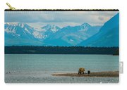 Alaskan Grizzly And Spring Cub Carry-all Pouch