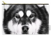 Alaskan Malamute Portrait Carry-all Pouch