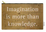 Albert Einstein Quote Imagination Science Math Inspirational Words On Worn Canvas With Formula Carry-all Pouch