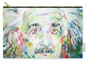 Albert Einstein Watercolor Portrait.1 Carry-all Pouch