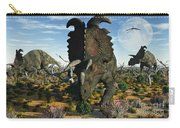 Albertaceratops Dinosaurs Grazing Carry-all Pouch