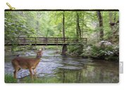 Alert Deer By Bridge In Cades Cove Carry-all Pouch