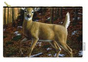 Whitetail Deer - Alerted Carry-all Pouch by Crista Forest