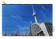 Alexanderplatz Sign And Television Tower Berlin Germany Carry-all Pouch