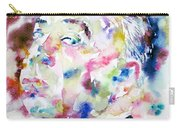 Alfred Hitchcock Watercolor Portrait.1 Carry-all Pouch