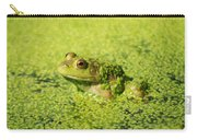 Algae Covered Frog Carry-all Pouch