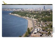 Alki Beach And Downtown Seattle Carry-all Pouch
