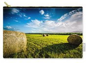 All American Hay Bales Carry-all Pouch by David Morefield