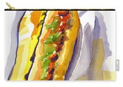 All Beef Ballpark Hot Dog With The Works To Go In Broad Daylight Carry-all Pouch by Kip DeVore