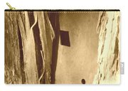 All Caught Up Sepia Carry-all Pouch