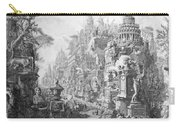 Allegorical Frontispiece Of Rome And Its History From Le Antichita Romane  Carry-all Pouch by Giovanni Battista Piranesi