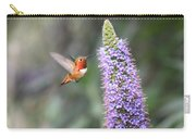Allen Hummingbird On Flower Carry-all Pouch