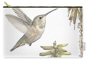 Allen's Hummingbird And Aloe Carry-all Pouch