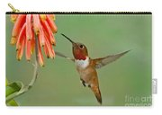 Allens Hummingbird At Flowers Carry-all Pouch