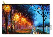 Alley By The Lake 2 - Palette Knife Oil Painting On Canvas By Leonid Afremov Carry-all Pouch