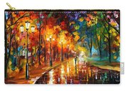 Alley Of The Memories - Palette Knife Oil Painting On Canvas By Leonid Afremov Carry-all Pouch