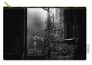 Alley Of Prague In Black And White Carry-all Pouch
