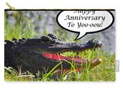 Alligator Anniversary Card Carry-all Pouch