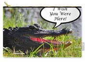 Alligator Greeting Card Carry-all Pouch by Al Powell Photography USA