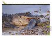 Alligator With A Fish Carry-all Pouch
