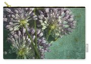 Allium Wildflower With Grunge Textures Carry-all Pouch