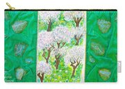 Almond Trees And Leaves Carry-all Pouch by Augusta Stylianou