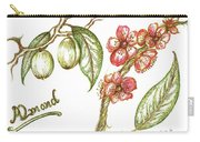 Almond With Flowers Carry-all Pouch