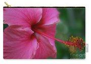 Aloha Aloalo Ulu Wehi Pink Tropical Hibiscus Wilipohaku Hawaii Carry-all Pouch