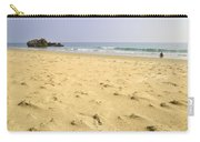 Alone At Bolonia Beach Carry-all Pouch