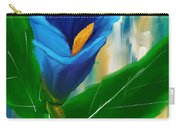 Alone In Blue- Calla Lily Paintings Carry-all Pouch