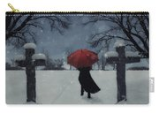 Alone In The Snow Carry-all Pouch by Joana Kruse
