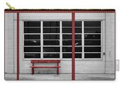 Alone - Red Bench - Windows Carry-all Pouch