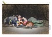 Alone With Her Dog Carry-all Pouch