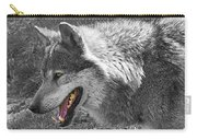 Alpha Male Wolf - You Look Tasty 2 Carry-all Pouch