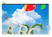 Alphabet Letters Carry-all Pouch by Amanda Elwell