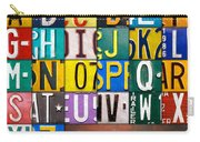 Alphabet License Plate Letters Artwork Carry-all Pouch