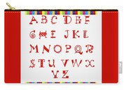 Alphabet Red Carry-all Pouch