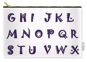 Alphabet With Purple Stripes Carry-all Pouch