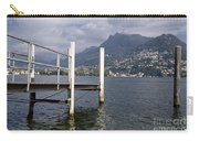 Alpine Lake And A Jetty Carry-all Pouch