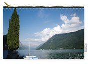 Alpine Lake With A Cypress Tree Carry-all Pouch