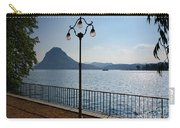 Alpine Lake With Street Lamp Carry-all Pouch