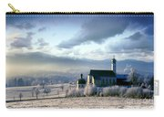 Alpine Scenery With Church In The Frosty Morning Carry-all Pouch