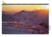 Alpine Sunset On High Alpine Glacier Carry-all Pouch