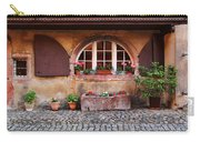 Alsatian Home In Kaysersberg France Carry-all Pouch by Greg Matchick