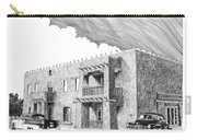 Amador Hotel In Las Cruces N M Carry-all Pouch by Jack Pumphrey