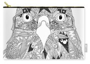 Amarican Eagle Black White Carry-all Pouch