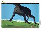 Amazing Black Dog, 2000 Carry-all Pouch by Marjorie Weiss