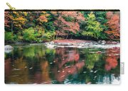 Amazing Fall Foliage Along A River In New England Carry-all Pouch