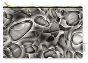 Amazing World Of Cells - Black And White Carry-all Pouch