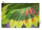 Amazon Parrots Feathers Abstract Carry-all Pouch
